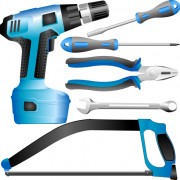 Link toRealistic hardware tools vector graphic set 04 free
