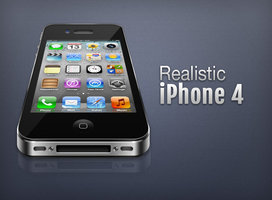 Link toRealistic iphone 4 psd
