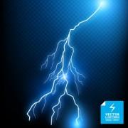Link toRealistic lightning effect vector background art 01 free