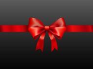 Realistic present ribbon vector free