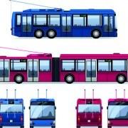 Link toRealistic trolleybus design vector