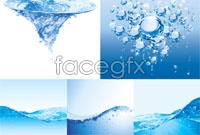 Link toRealistic water droplets vector