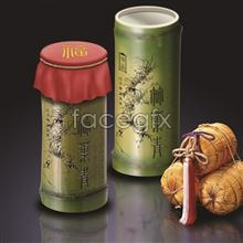 Link toReality tea bamboo packaging fortune commercial advertising design psd