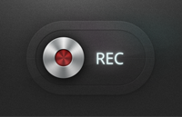 Link toRecord button psd