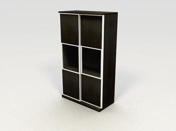 Link toRectangular solid wood cabinets lockers stylish furniture 3d models