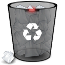 Link toRecycle bin black icons