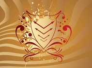 Link toRed abstract shield vector free