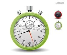 Link toRed and green phone timer stopwatch graphic psd source file