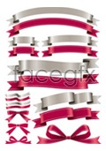 Link toRed and silver ribbon vector