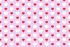 Link toRed and white hearts seamless vector background
