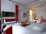 Link toRed-and-white living room models 3d model