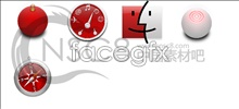 Red apple desktop icons