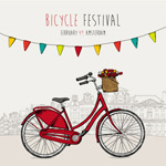Link toRed bicycle illustrated vector
