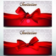 Link toRed bow holiday cards vector