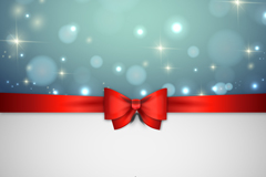 Link toRed bow ribbon background vector