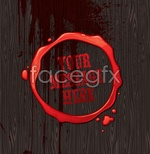 Link toRed brand wood background vector