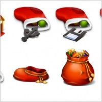 Link toRed christmas icons pack