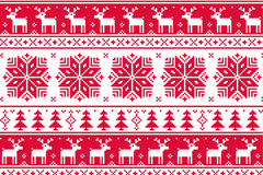 Link toRed christmas knitting pattern background vector
