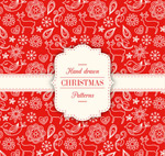 Link toRed christmas seamless backgrounds vector