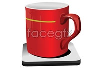 Link toRed coffee cup vector graphics