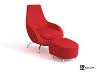 Link toRed comfortable combination of chair 3d model