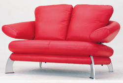 Link toRed double back sofa 3d model of personality (including materials)