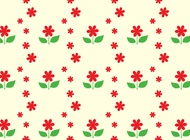Link toRed flower pattern vector free