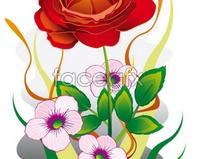 Link toRed flower pictures flower eps format vector