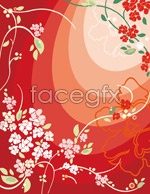 Link toRed flower vector