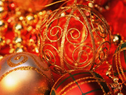 Link toRed golden christmas balls high definition pictures 3