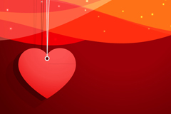 Link toRed heart ornament vector background