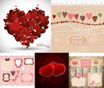 Red heart-shaped border vector