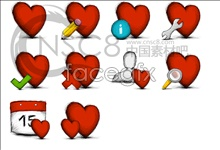 Link toRed heart-shaped desktop icons