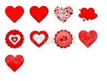 Link toRed heart-shaped love icons