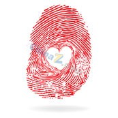 Link toRed heart-shaped prints vector