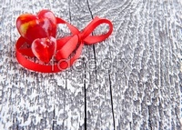 Link toRed heart-shaped red ribbon high definition pictures