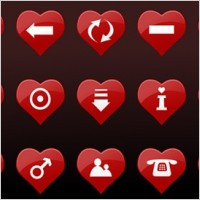 Link toRed heartshaped vector