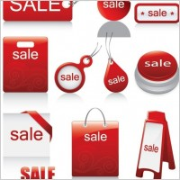 Link toRed icon vector sales discount