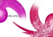 Link toRed ink of purple flower psd