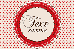 Link toRed jade lace round the water background vector