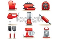 Link toRed kitchen icon vector