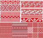 Link toRed knitted seamless background vector