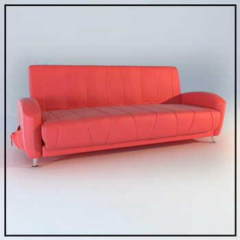 Link toRed leather sofa 3d model