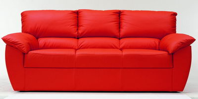 Link toRed modern leather fabric sofa 3d model