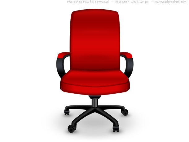 Link toRed office chair psd icon