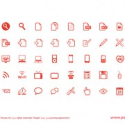 Link toRed outline web icons free
