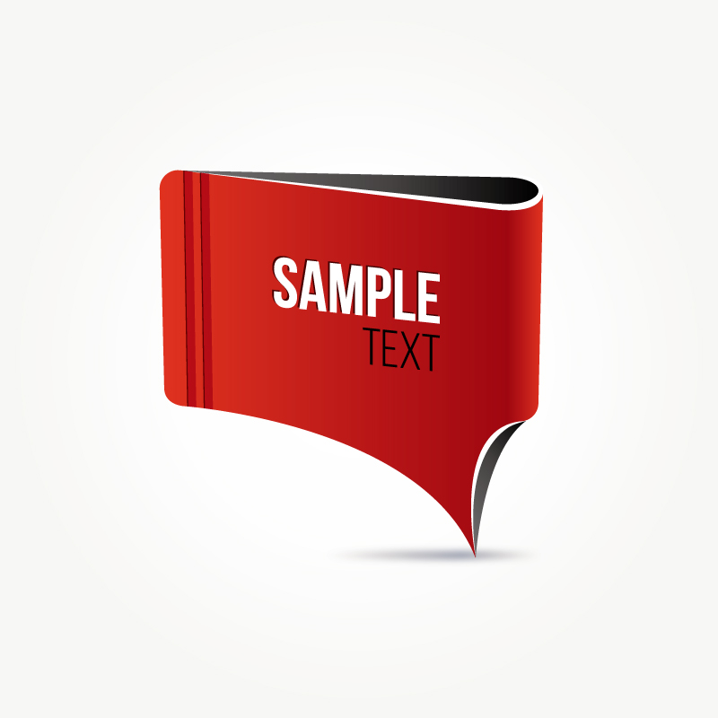 Red paper tag vector