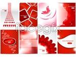 Link toRed patterned background vector