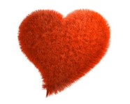 Link toRed plush heart-shaped picture download
