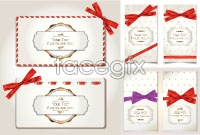 Link toRed ribbon bow cards